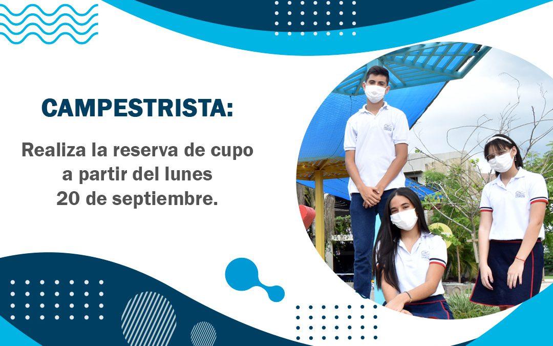 INSTRUCCIONES PARA REALIZAR LA RESERVA DE CUPO.